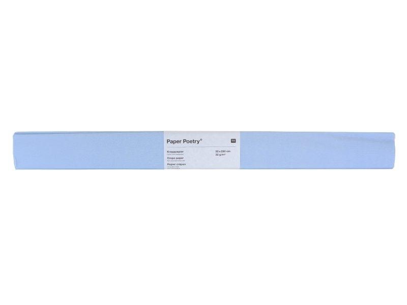 Crepe paper - light blue