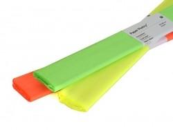 Papier crépon - jaune fluo