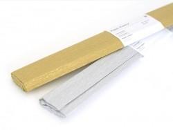Papier crépon - argenté