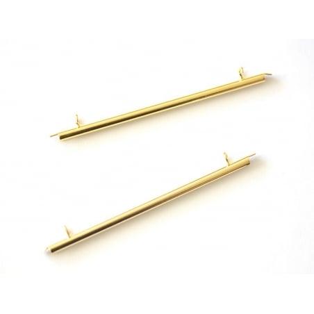 Embout pour tissage de perles doré - 60 mm  - 1