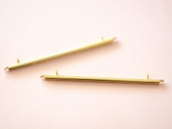 Embout pour tissage de perles doré - 60 mm