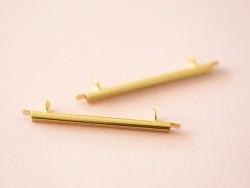 Goldfarbene Endkappe für gewebte Perlenarmbänder - 35 mm