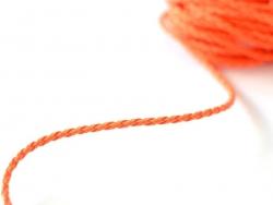 Geflochtene Kunstlederschnur - neonorange