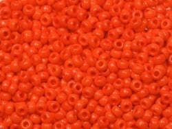 Miyuki seed beads/rocaille beads 11/0 - Opaque red (colour no. 407)