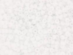 Miyuki seed beads/rocaille beads 11/0 - Matte white (colour no. 402f)