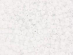 Rocailles Miyuki 11/0 - blanc mat 402f