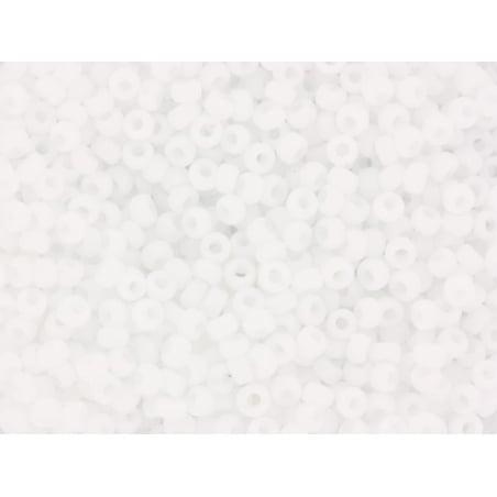 Rocailles Miyuki 11/0 - blanc mat 402f  - 1