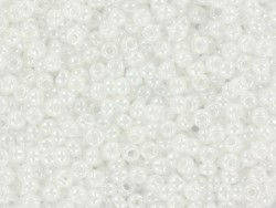 Miyuki-Rocailleperlen 11/0 - glänzendes Weiß (Farbnr. 528)