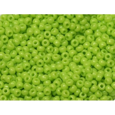 Miyuki seed beads/rocaille beads 11/0 - Opaque lime green (colour no. 416)