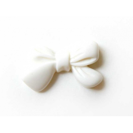 Acheter Cabochon Noeud - Blanc - 0,39€ en ligne sur La Petite Epicerie - Loisirs créatifs