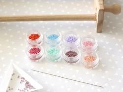Miyuki seed beads/rocaille beads 11/0 - Metallic pink (colour no. 4218)