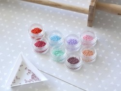 Miyuki seed beads/rocaille beads 11/0 - Opaque mauve (colour no. 4487)