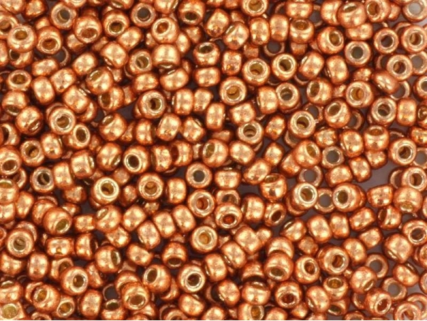 Rocailles Miyuki 11/0 - orange rouille métallique 4206  - 1