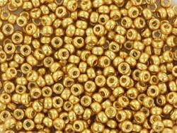 Miyuki-Rocailleperlen 15/0 - goldfarben (Farbnr. 4202)