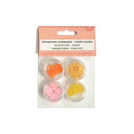 Set of miniature food decorations - Sundae