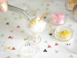 Set of miniature food decorations - Sundae