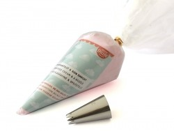 Whipped cream & nozzle kit - Cotton candy pink