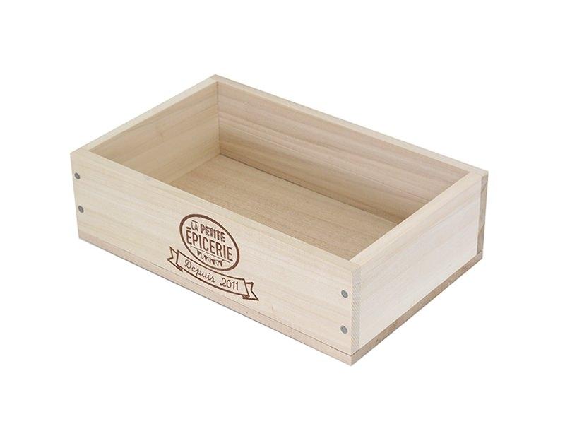 Caissette en bois La Petite Epicerie - grand coté La petite épicerie - 1