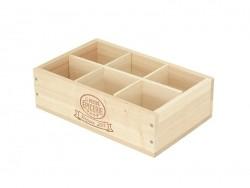 Caissette en bois La Petite Epicerie 6 compartiments - grand coté La petite épicerie - 1