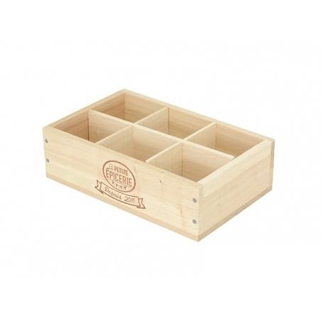 Acheter Caissette en bois La Petite Epicerie 6 compartiments - grand coté - 9,90€ en ligne sur La Petite Epicerie - Loisirs ...