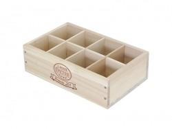 Caissette en bois La Petite Epicerie 8 compartiments - grand coté La petite épicerie - 1