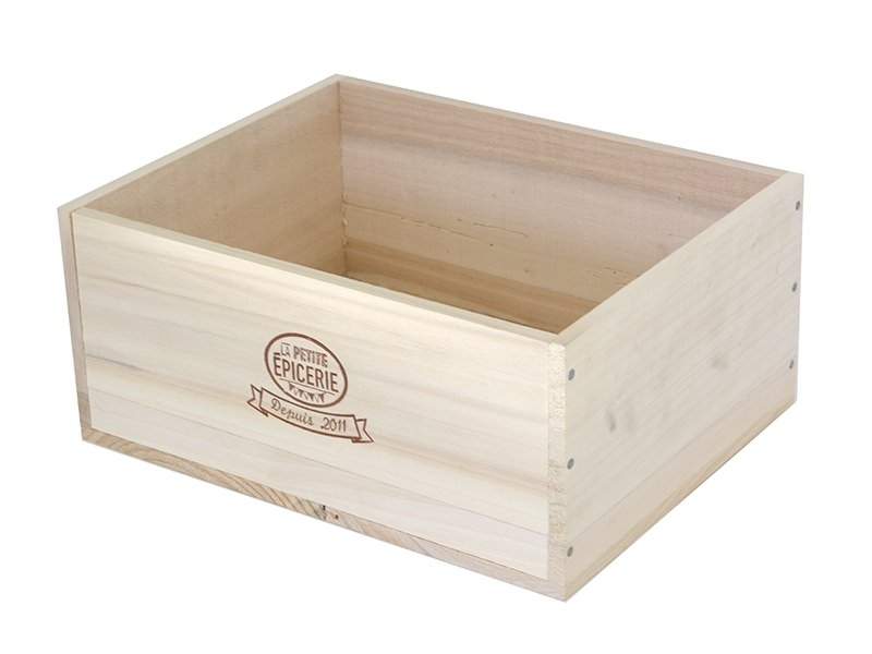 Grande caissette en bois La Petite Epicerie La petite épicerie - 1