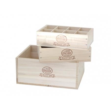 Grande caissette en bois La Petite Epicerie La petite épicerie - 3