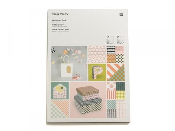 Bloc de papier à motif - graphique