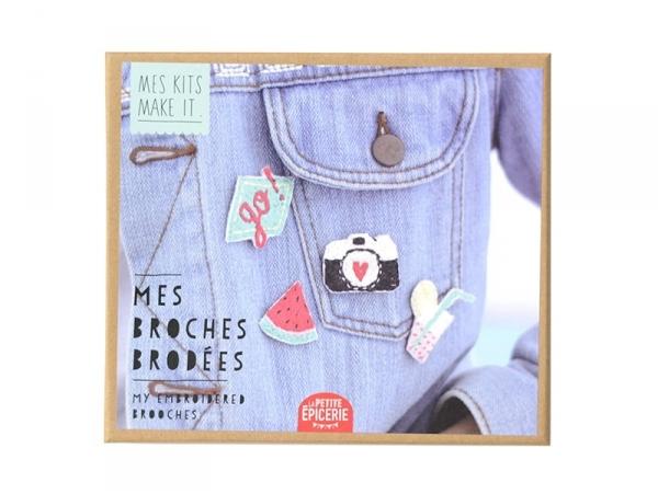 Kit MKMI - Mes broches brodées - DIY La petite épicerie - 1