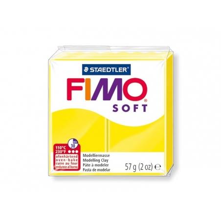 Pâte Fimo Soft jaune Citron 10