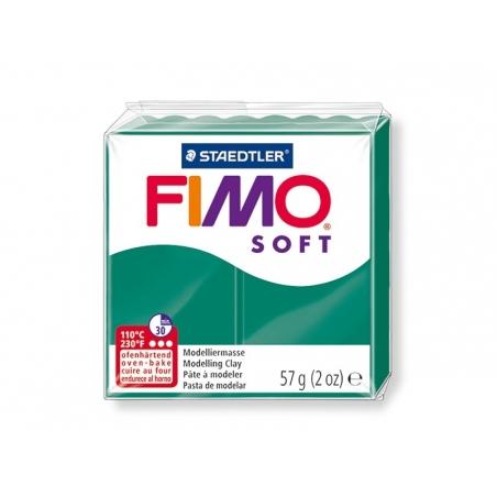 Pâte Fimo Soft Vert Emeraude 56