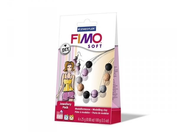 Jewellery kit incl. Fimo - Coral beads