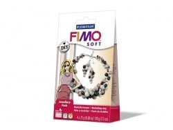 Kit bijoux Fimo - Perles marbrées