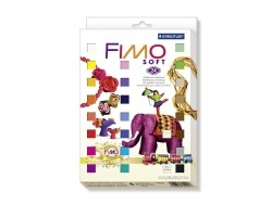 Coffret vintage 24 demi-pains Fimo Soft + emportes-pièces