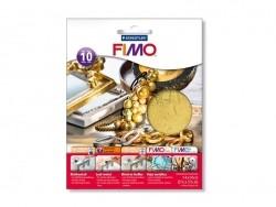 10 x Blattmetall - goldfarben