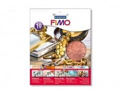 10 feuilles de métal pour dorure - cuivré Fimo - 1