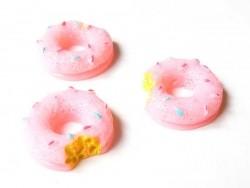 Cabochon Donut rose croqué