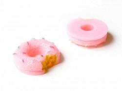 Cabochon Donut rose croqué   - 4
