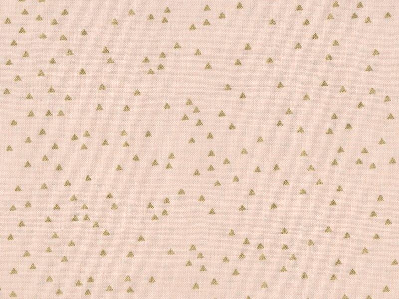 Acheter Tissu rose pâle imprimé triangles dorés - 1,79€ en ligne sur La Petite Epicerie - 100% Loisirs créatifs