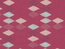 Coupon de tissu à motifs - framboise Motif Personnel - 1