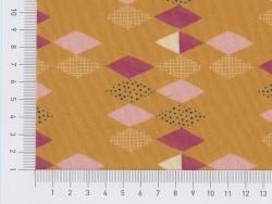Coupon de tissu à motifs - moutarde