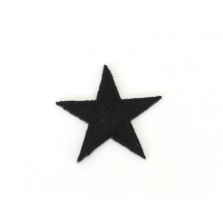 Écusson thermocollant grande étoile noire