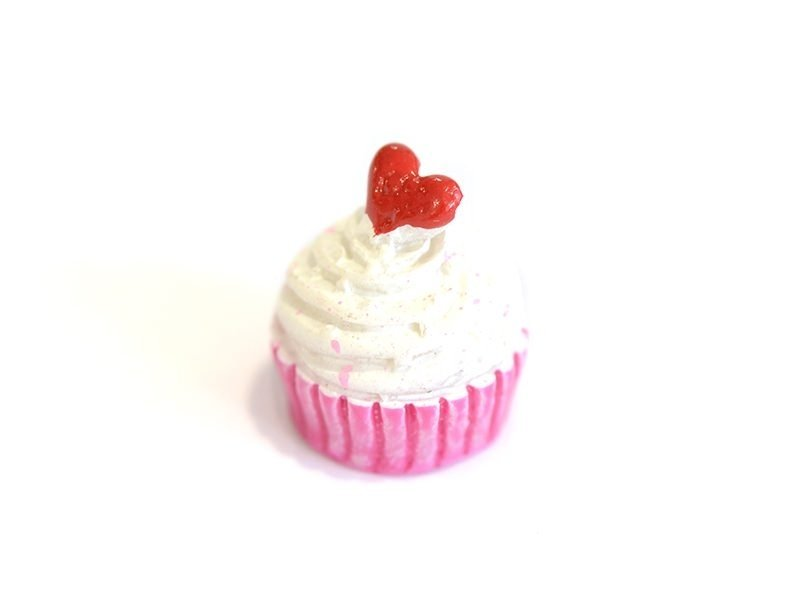 Cabochon Cupcake coeur et chantilly  - 1