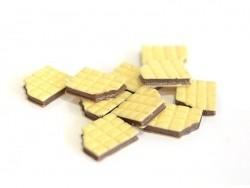 Cabochon gaufrette fourrée au chocolat