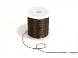 12 m de fil élastique brillant - Marron