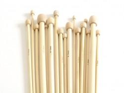 Aiguilles à tricoter en bambou - 3 mm