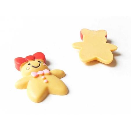 Gingerbread woman cabochon