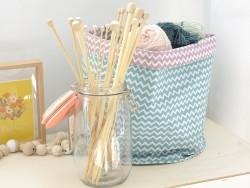Aiguilles à tricoter en bambou - 8 mm