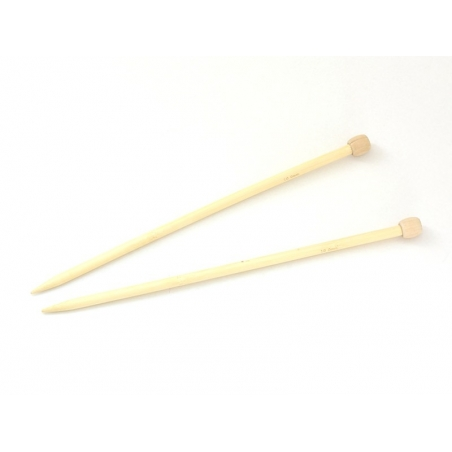 Aiguilles à tricoter en bambou - 10 mm