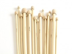Bamboo knitting needles - 10 mm